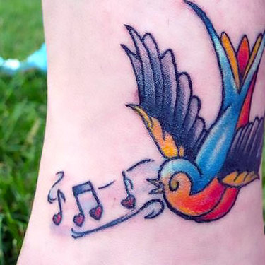 Traditional Songbird Tattoo