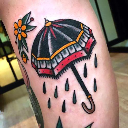Traditional Umbrella Tattoo Idea