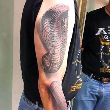 3D King Cobra Tattoo