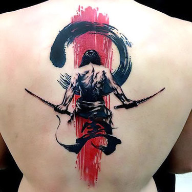 Trash Polka Samurai Tattoo