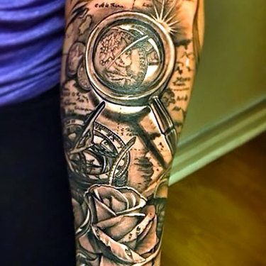 Traveling on Forearm For Men Tattoo
