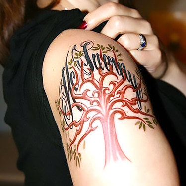 Tree on Shoulder for Women Tattoo