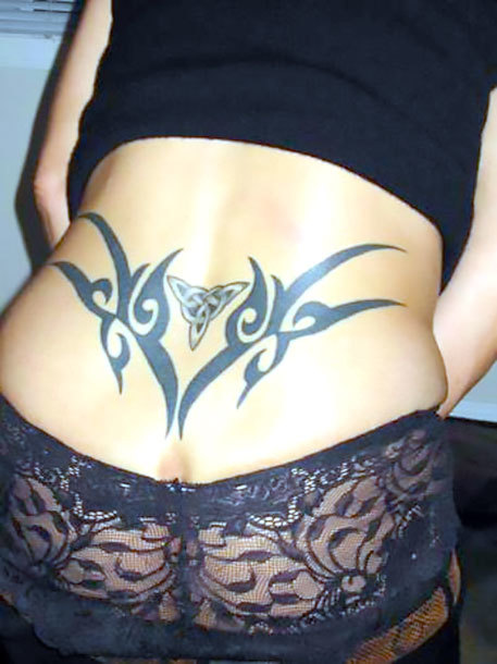 Tribal Celtic Lower Back Tattoo Idea
