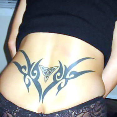 Tribal Celtic Lower Back Tattoo