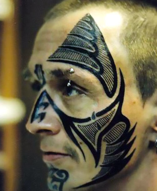 Tribal Face Tattoo Idea