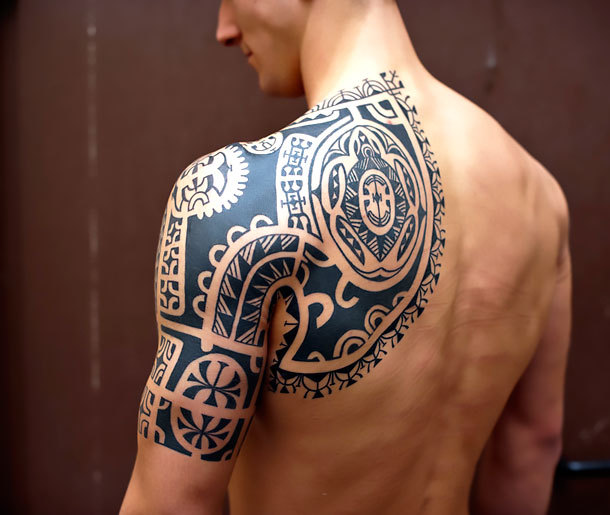 Tribal Half Sleeve Tattoo Idea