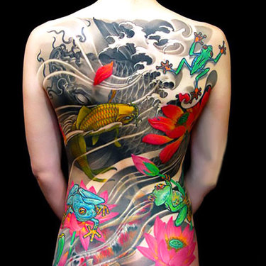 Oriental Tattoo on Full Back Tattoo