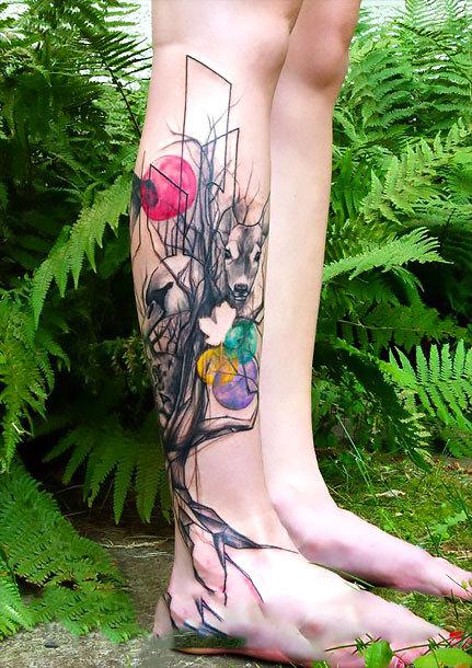 Original Shin Tattoo Idea