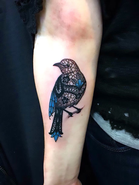Ornate Mockingbird for Women Tattoo Idea