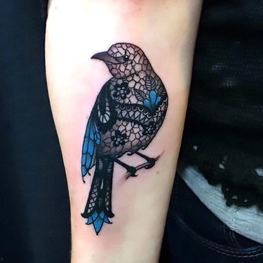 Ornate Mockingbird for Women Tattoo