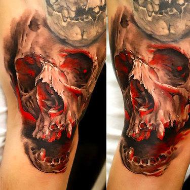 Realistic Skull Tattoo