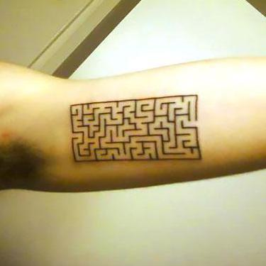 Awesome Maze on Bicep Tattoo