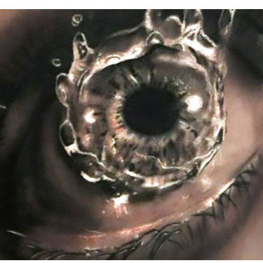 Realistic Water In Eye Tattoo