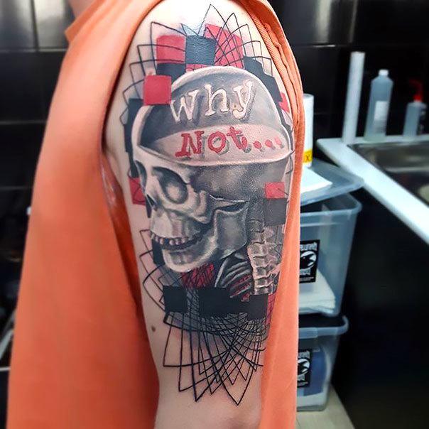 Realstic Trash Polka Why Not Tattoo Idea