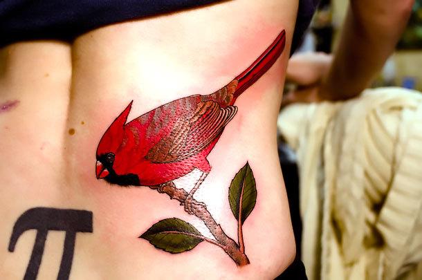 Red Bird Tattoo Idea