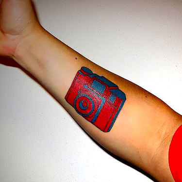 Red Camera Tattoo