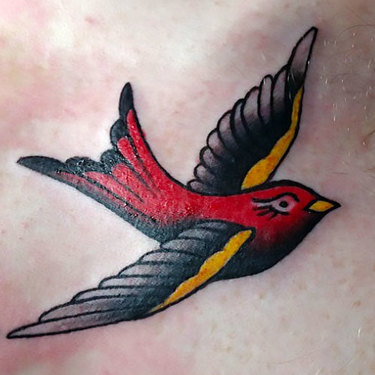 Red Sparrow Tattoo