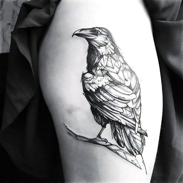 Awesome Raven Tattoo Idea