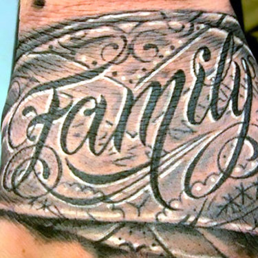 Family on Hand Tattoo