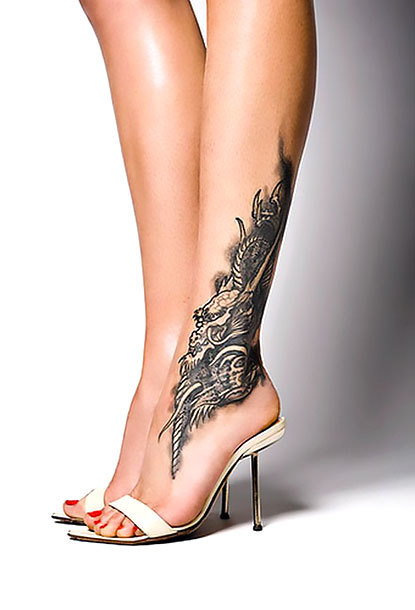Female Ankle Tattoo Idea