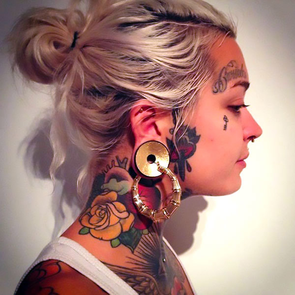 Female Neck Tattoo Idea