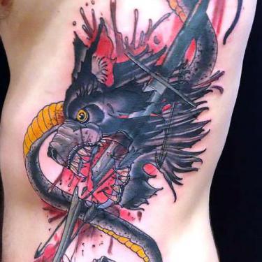 Awesome Rib Guy Tattoo