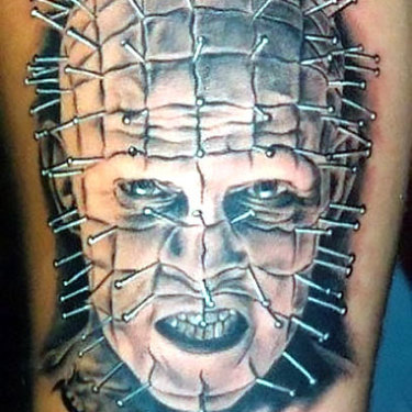 Pinhead Horror Tattoo