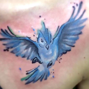 Pretty Bluebird Tattoo