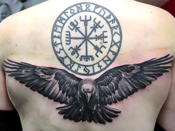 Raven and Sign Tattoo Idea