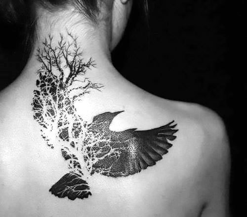 Raven Tree Tattoo Idea