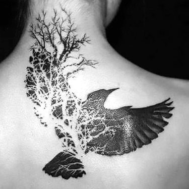 Raven Tree Tattoo