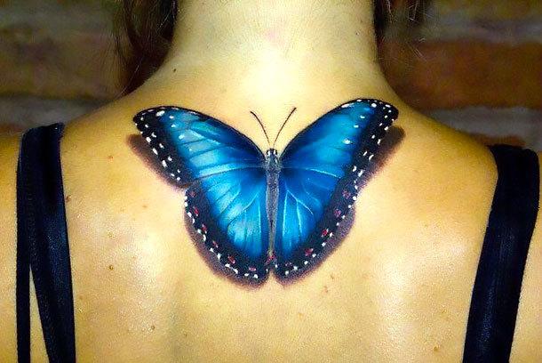 Realistic Butterfly Tattoo Idea