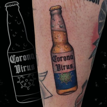 It's enough to drink beer. Tattoo
