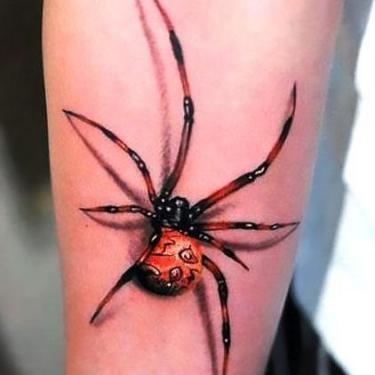 3D Spider on Arm Tattoo