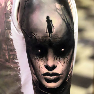 Flawless Horror Girl Tattoo