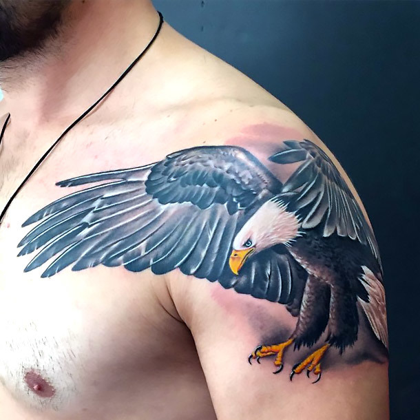 Badass Eagle Tattoo Idea