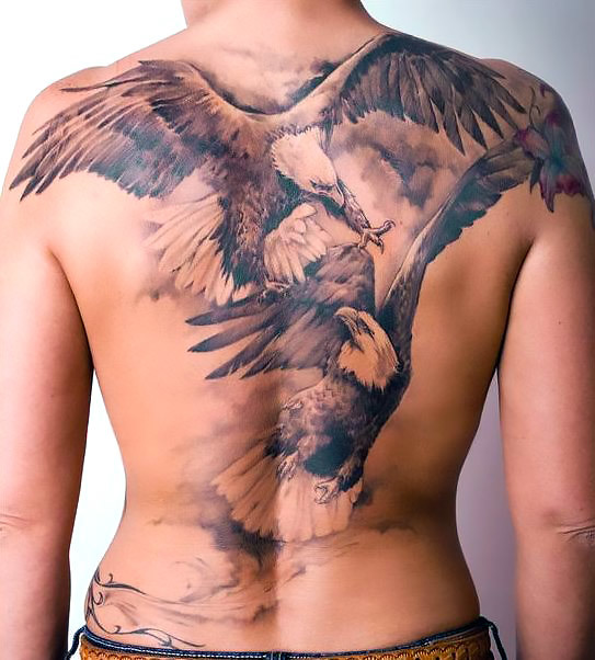 Eagle Fight Tattoo Idea