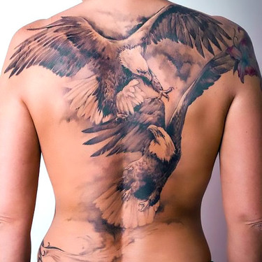 Eagle Fight Tattoo