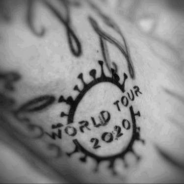 World Tour COVID-19 Tattoo