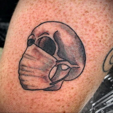Medical Mask Tattoo