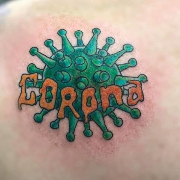 Corona Virus Tattoo Idea
