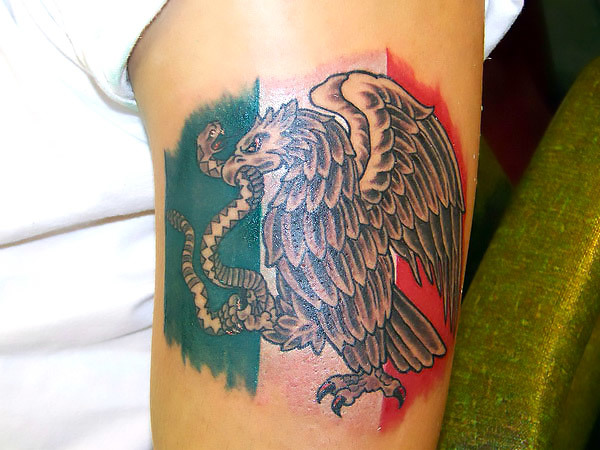 Mexican Eagle Tattoo Idea