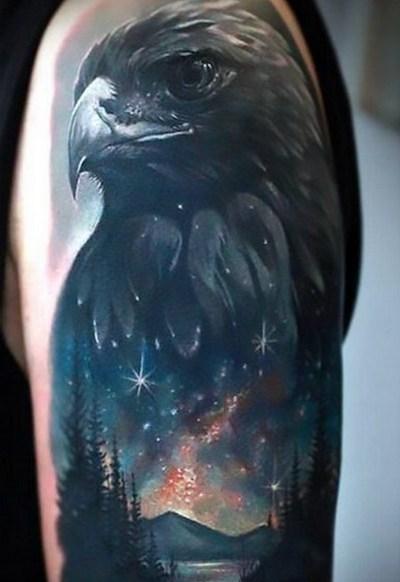 Night Eagle Tattoo Idea
