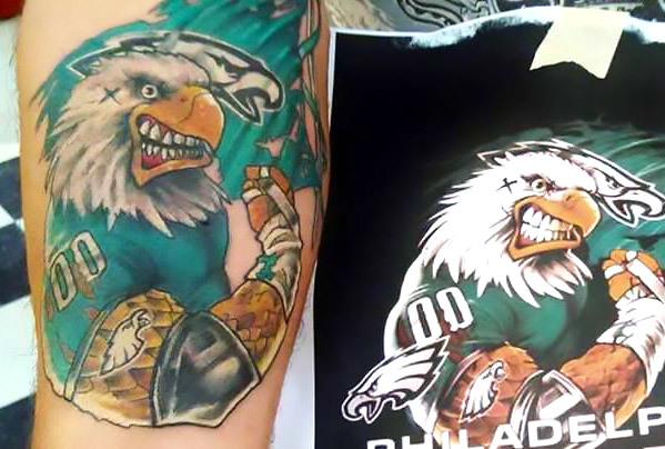 Philadelphia Eagles Tattoo Idea
