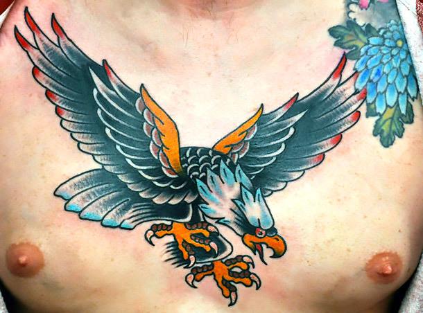 Traditional Eagle Tattoo Idea