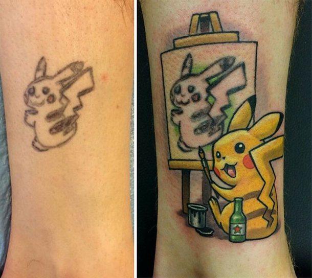 Cool Pokemon Pikachu Tattoo Idea
