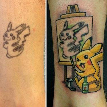 Cool Pokemon Pikachu Tattoo