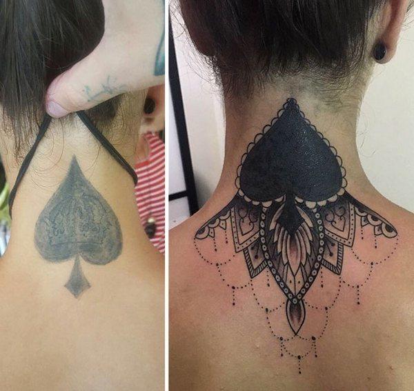 Spade Cover Up  Tattoo Idea
