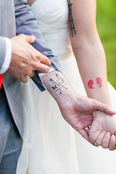 Creative Different Wedding  Tattoo Idea