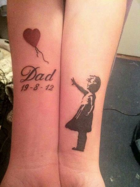 Dad Memorial Tattoo Idea